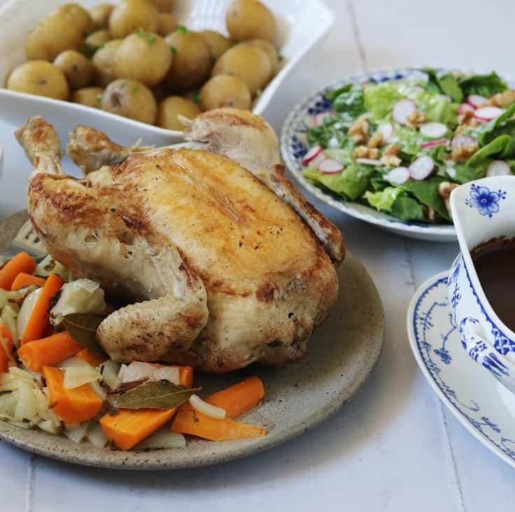 Kylling danoise – grydestegt kylling