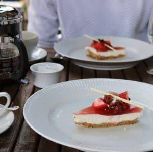 Dessert hos Restaurant Under Lindetræet