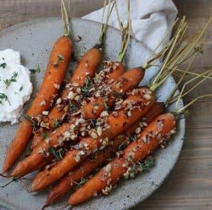 Bagte gulerødder