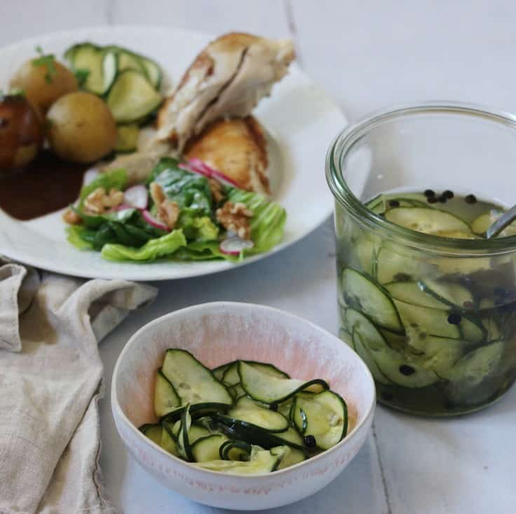 Agurkesalat – hjemmelavet syltede agurker