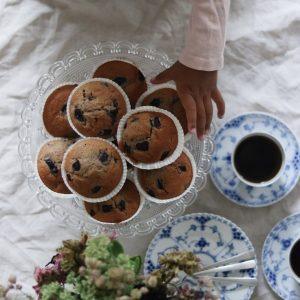 Kirsebær muffins med vanilje