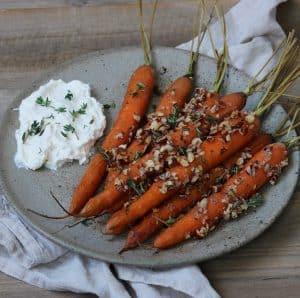 Bagte gulerødder i ovnen