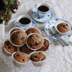 Kirsebær i muffins