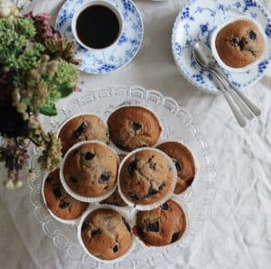 Muffins med kirsebær