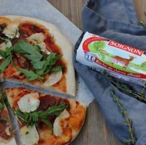 Pizza med Soignon gedeost