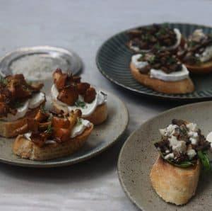 Brød med svampe
