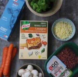 Knorr lasagne ingredienser