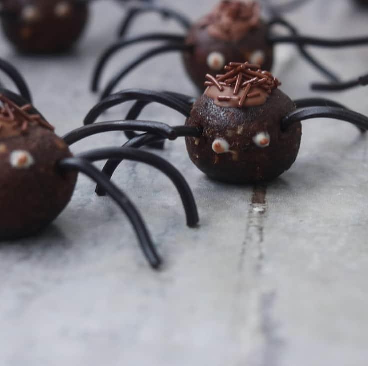 Spiselige halloween edderkopper