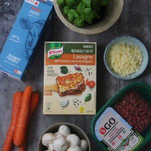 Knorr ingredienser lasagne