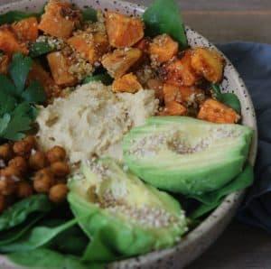 Buddha bowl med avokado