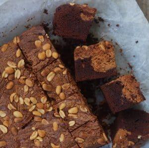 Brownies med peanutbutter
