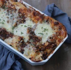 Vegetar lasagne med quinoa