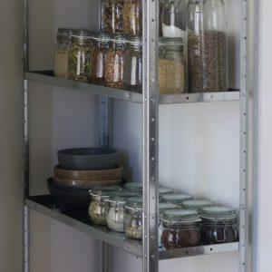 Opbevarings glas køkken