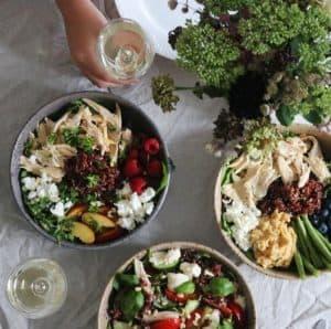 Salater med kylling