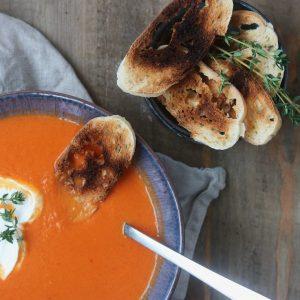 Klassisk tomatsuppe