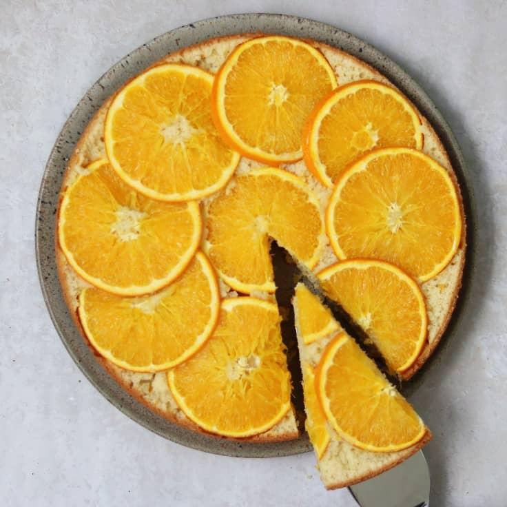 Kage med appelsin