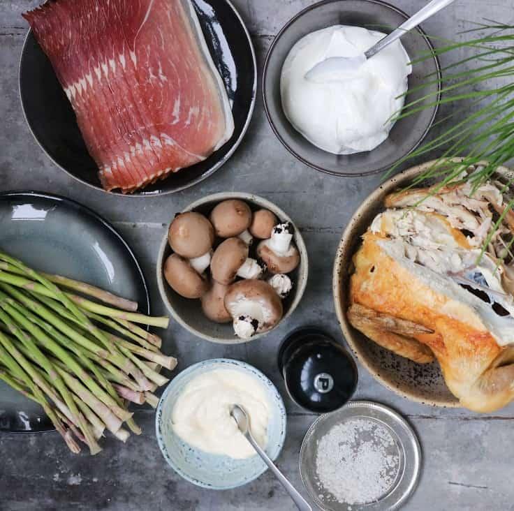 Ingredienser hønsesalat