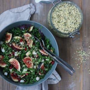Salat med granatæbler