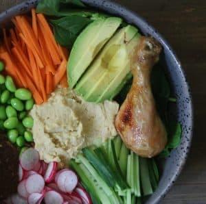 Buddhabowl med grøntsager