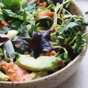 Salat og laks
