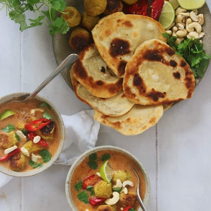 Indisk suppe med kikærteboller