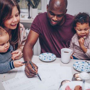 nybygger familie