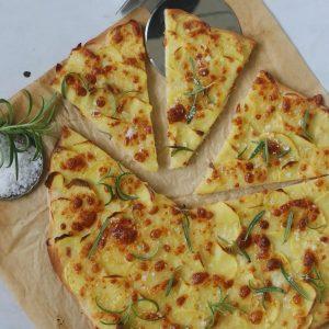 Pizza med kartoffel