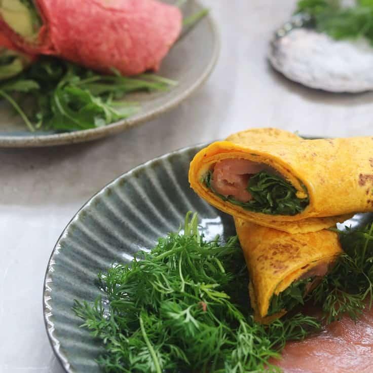 Frokost wraps – 2 varianter med grøntsager