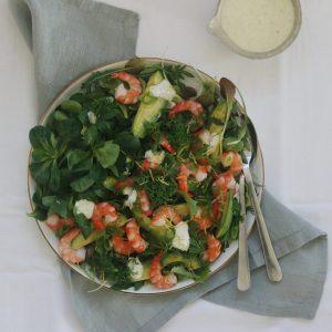 Frisk salat med rejer