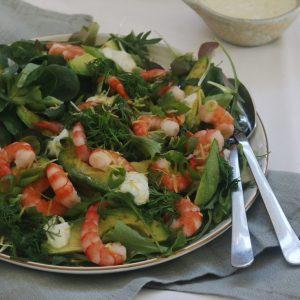 Salat med rejer
