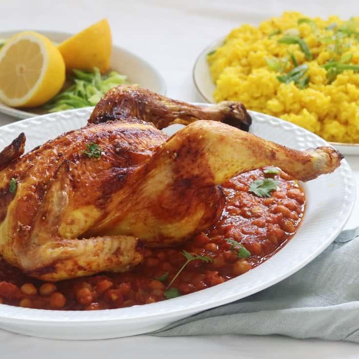 Marokkansk kylling med kikærter