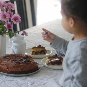 Marmor kage med glasur