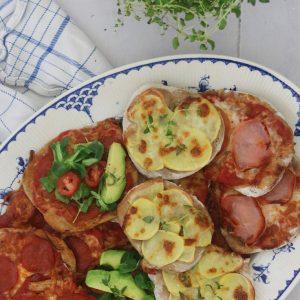 Frokost minipizzaer