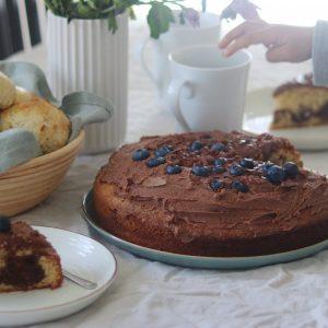 Marmorkage og kaffe