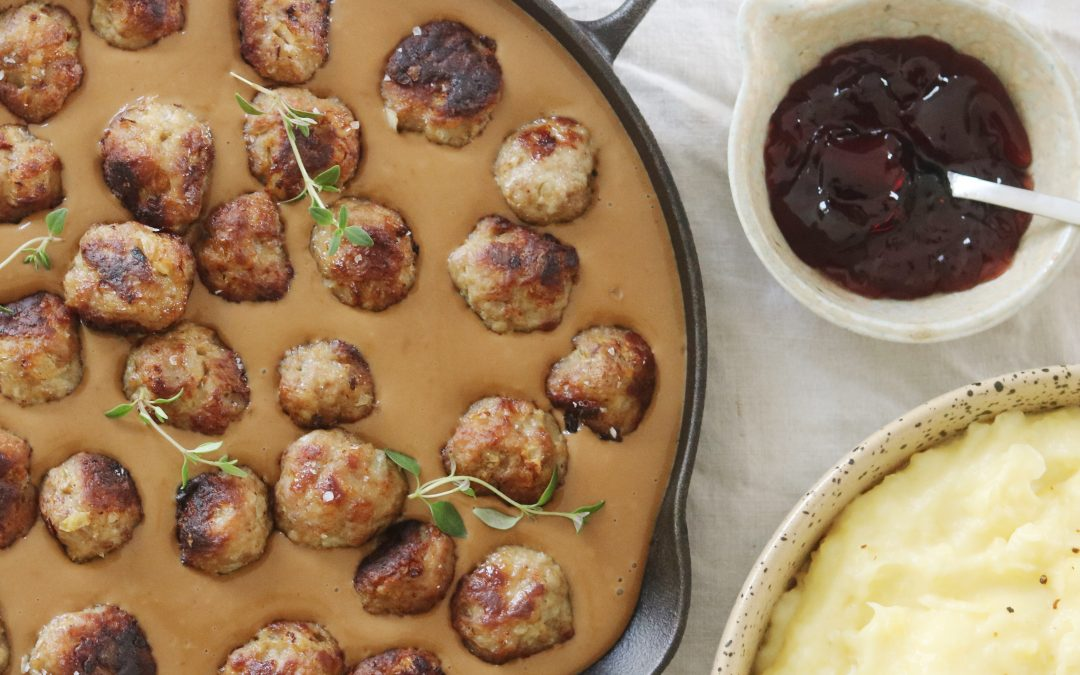 Svenske kødboller med kartoffelmos
