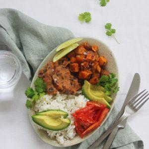 Vegansk mexi bowl