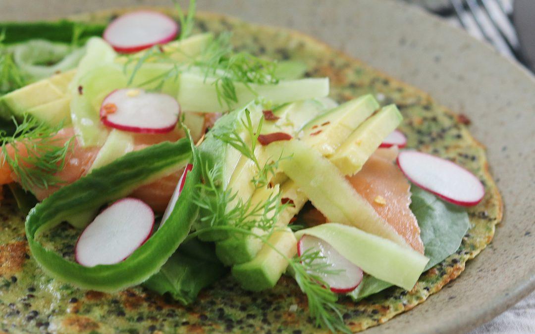 Quinoa madpandekager med spinat