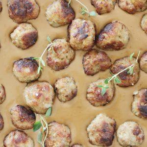 Svenske kødboller og brunsauce