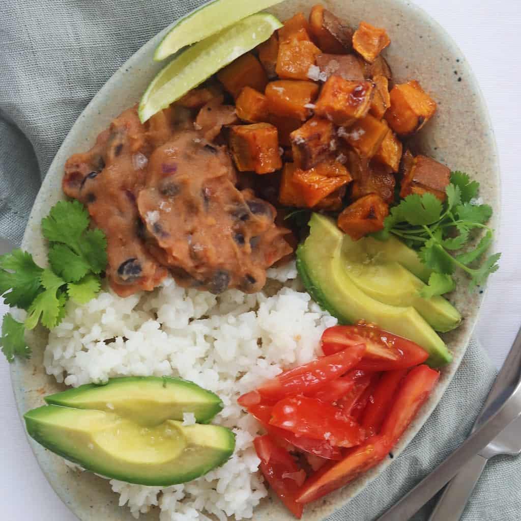 Vegetarisk mexi bowl med