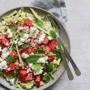 Grøn salat med mynte