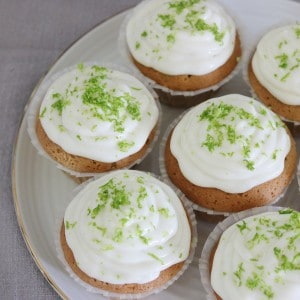 Lime muffins med frosting