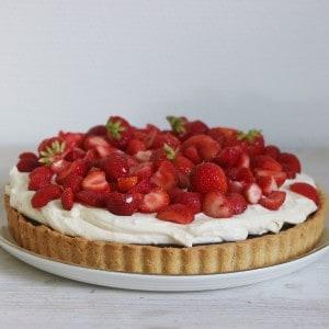 Jordbær kage med creme