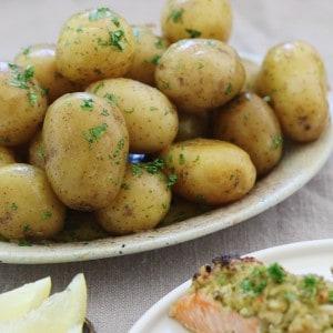 Kartofler med bagt laks
