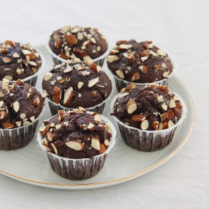 Chokolademuffins med chokoladestykker