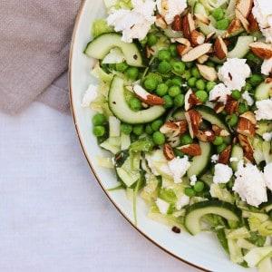 Grøn salat med ærter