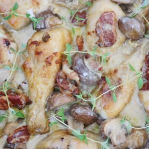 Kylling i svampesauce