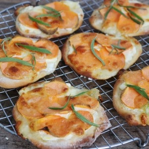 Pizza med søde kartoffel og mascarpone