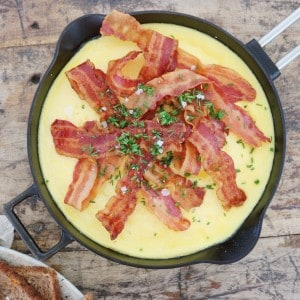 Omelet med bacon