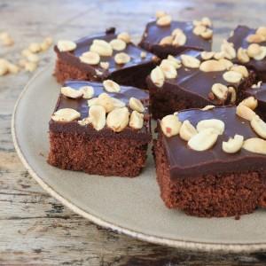 Kage med chokolade ganache