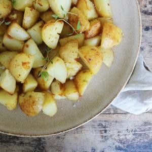 Rå stegte kartofler